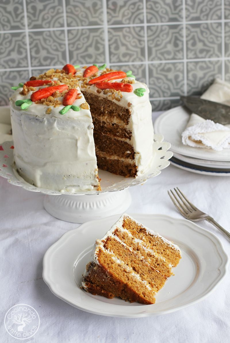 Tarta de zanahoria Carrot Cake Receta (17)