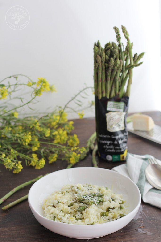 Cocinar Esparragos Verdes | Arroz Cremoso Con Esparragos Verdes Cocinando Entre Olivos