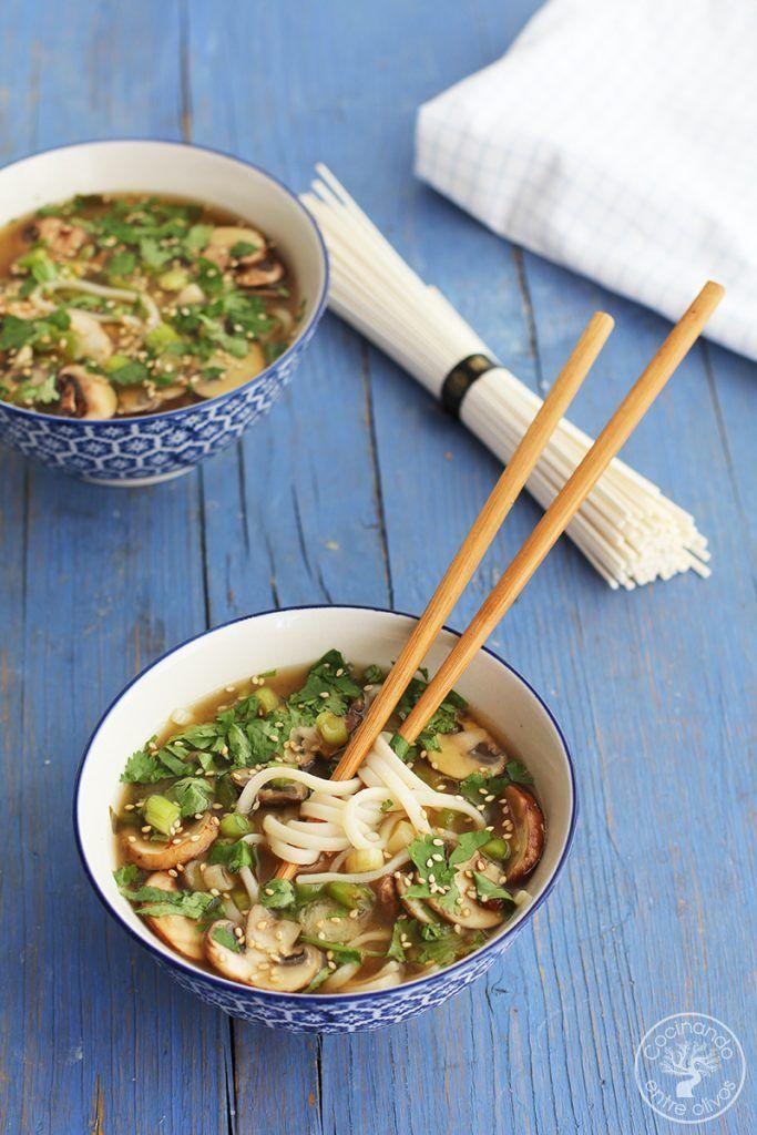 Sopa de miso con fideos udon receta www.cocinandoentreolivos.com (1)