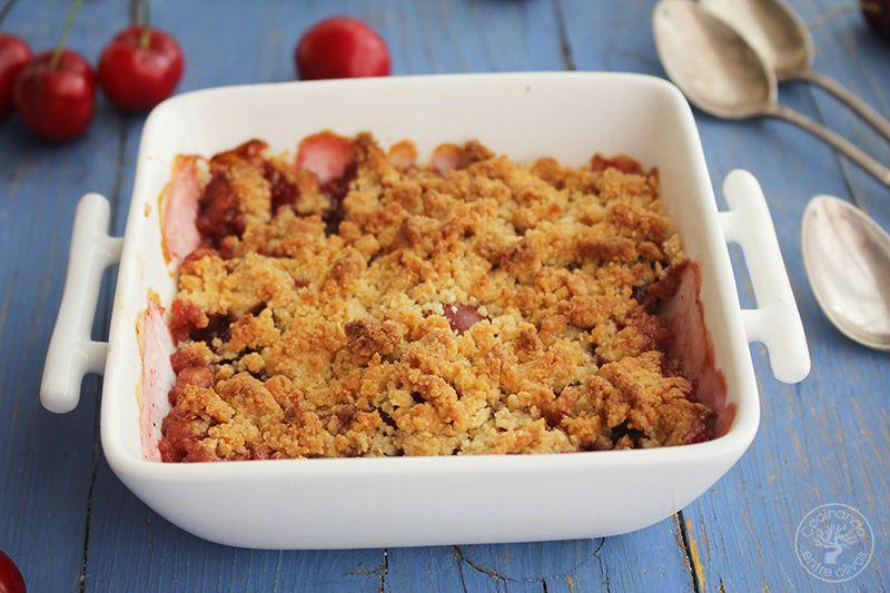 Crumble de cerezas www.cocinandoentreolivos.com (18)