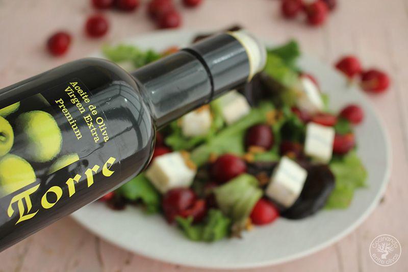 Ensalada de cerezas y queso www.cocinandoentreolivos.com (10)