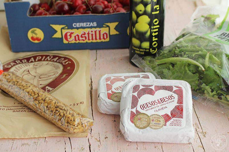 Ensalada de cerezas y queso www.cocinandoentreolivos.com (2)