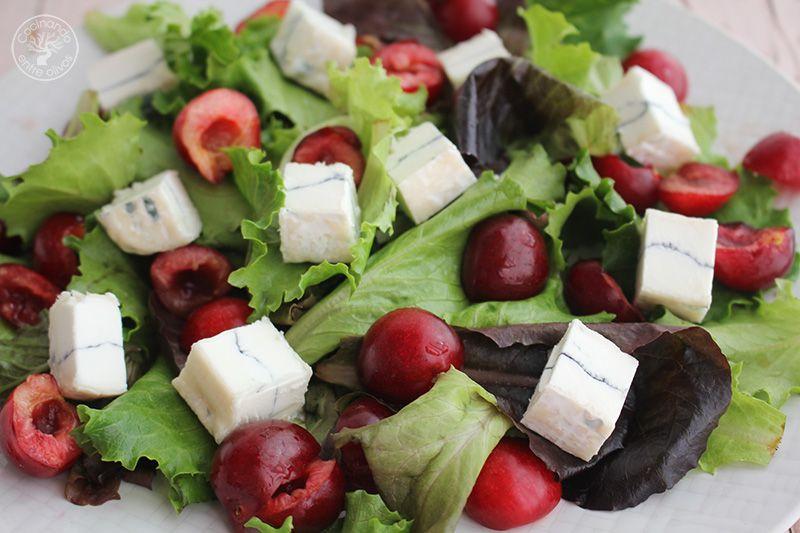 Ensalada de cerezas y queso www.cocinandoentreolivos.com (8)