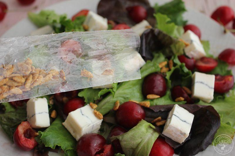 Ensalada de cerezas y queso www.cocinandoentreolivos.com (9)