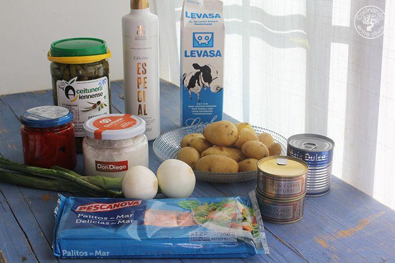 Ensaladilla de patata, palitos de cangrejo, atun y lactonesa (2)