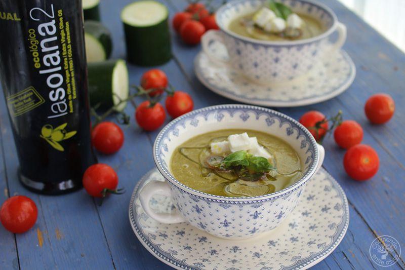 Gazpacho de calabacin con queso www.cocinandoentreolivos.com (1)
