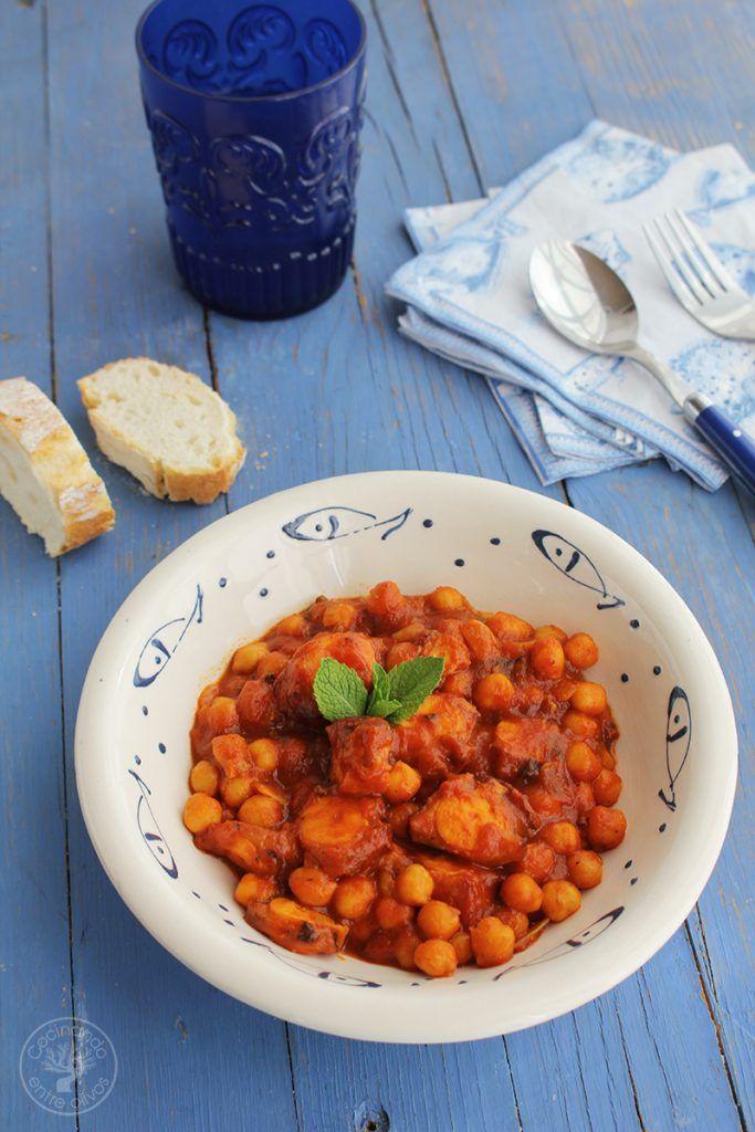 Garbanzos con pulpo www.cocinandoentreolivos.com (15)