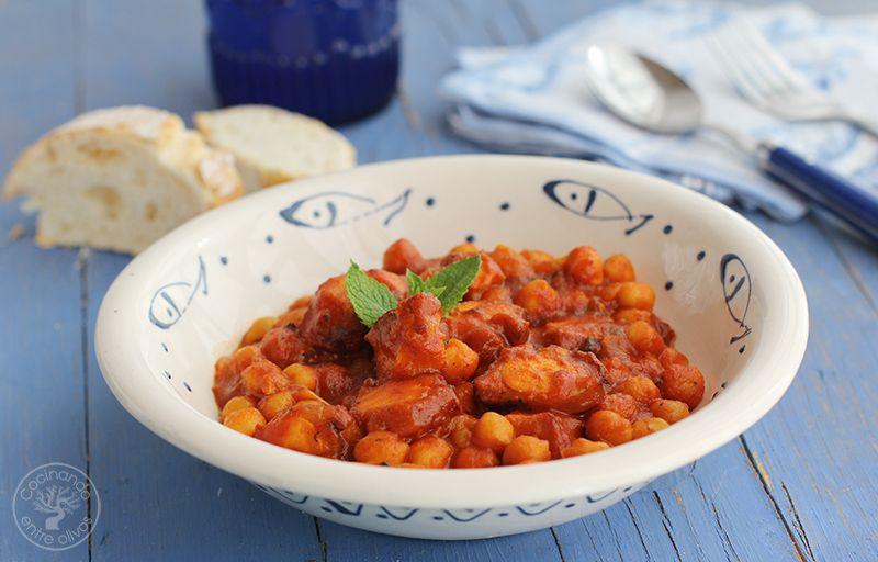 Garbanzos con pulpo www.cocinandoentreolivos.com (16)