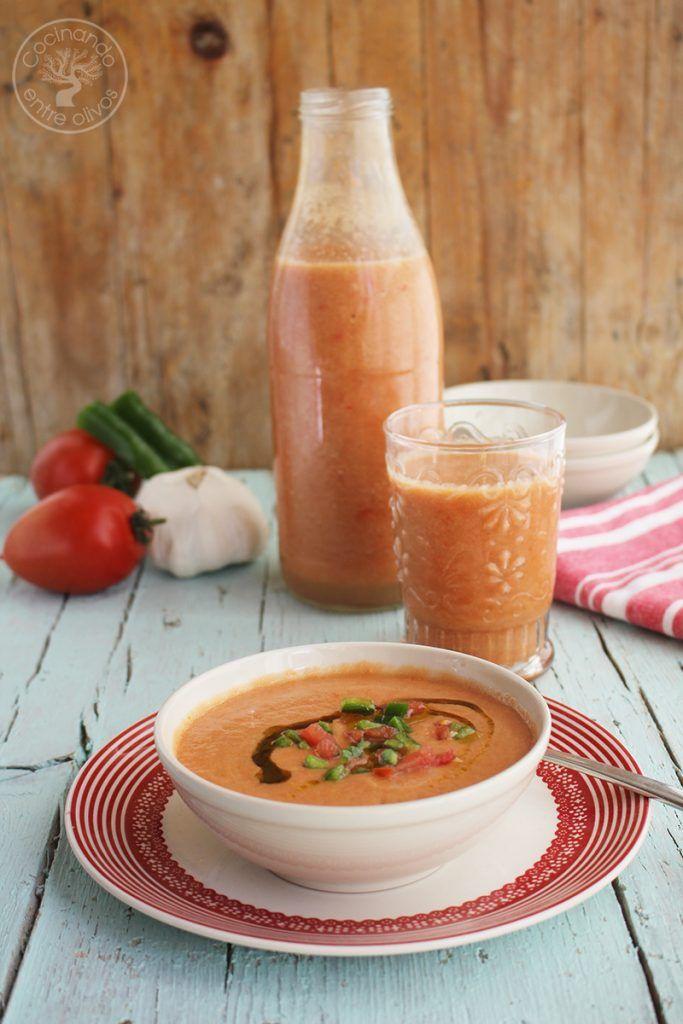 Gazpacho andaluz receta www.cocinandoentreolivos.com (12)