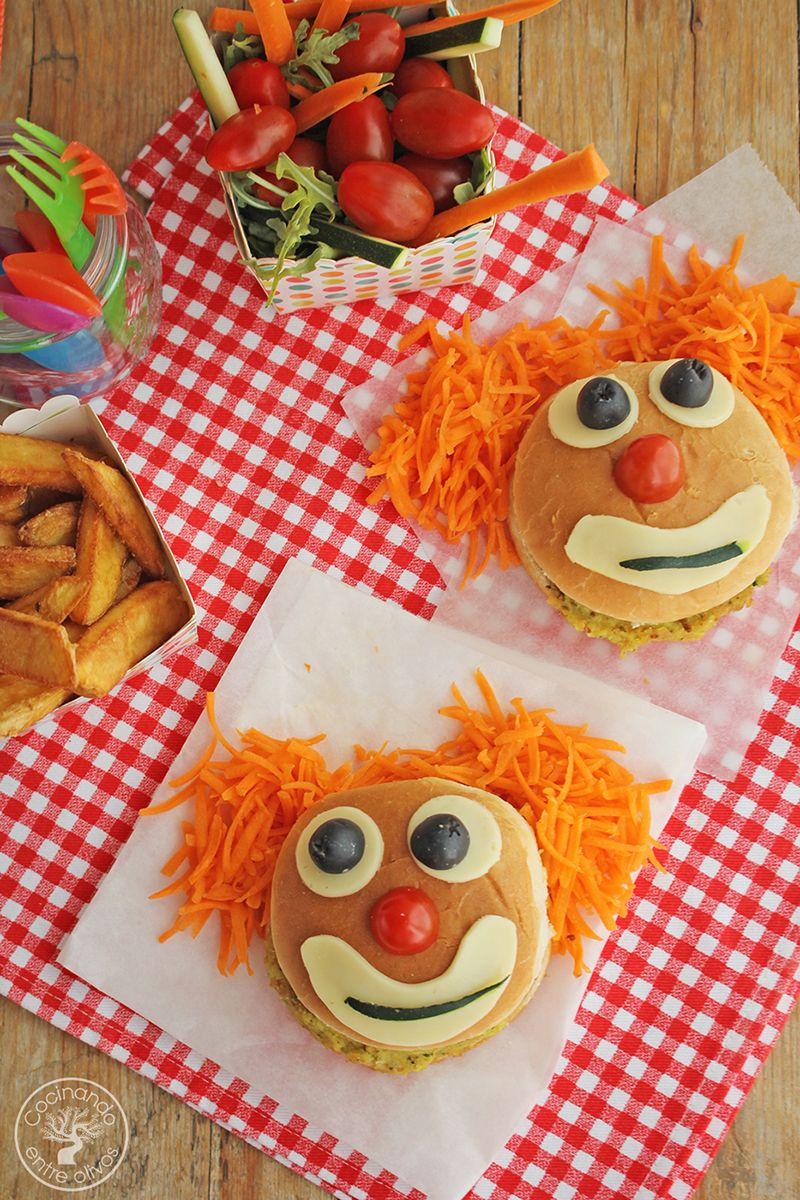 Hamburguesa payaso de garbanzos y calabacin www.cocinandoentreolivos.com (5)