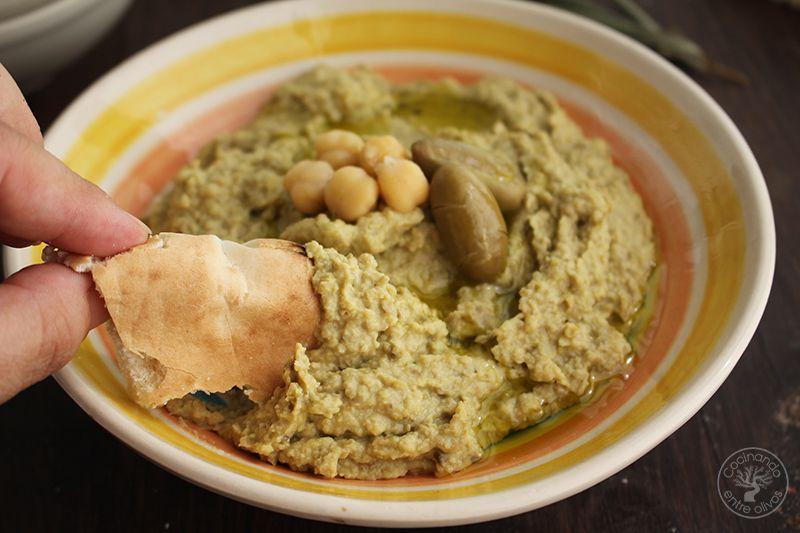 Hummus de Aceitunas verdes www.cocinandoentreolivos.com (11)