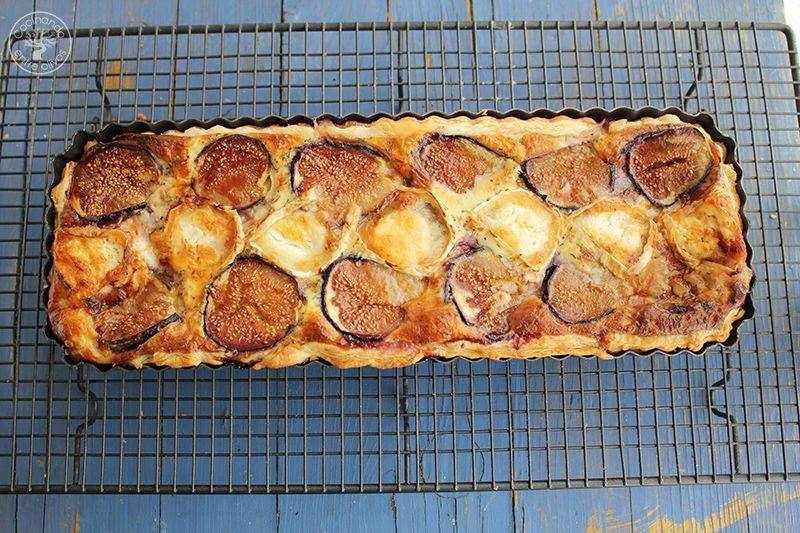 Tarta de hojaldre, brevas y queso de cabra (2)
