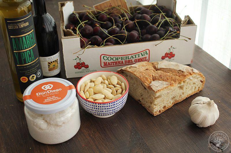 Ajoblanco de cerezas receta www.cocinandoentreolivos.com (2)