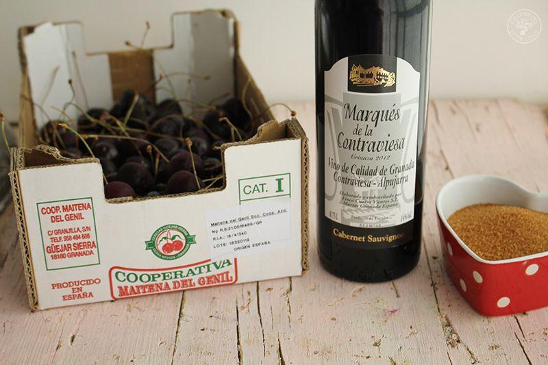 Cerezas al vino tinto receta www.cocinandoentreolivos.com (1)