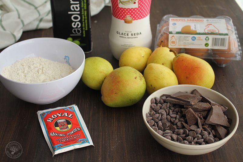 Bizcocho de peras y chocolate receta (1)