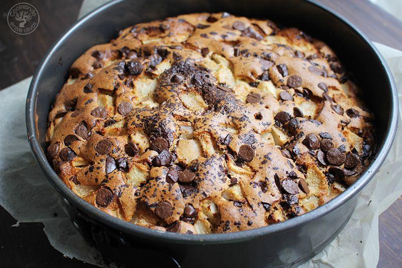 Bizcocho de peras y chocolate receta (15)