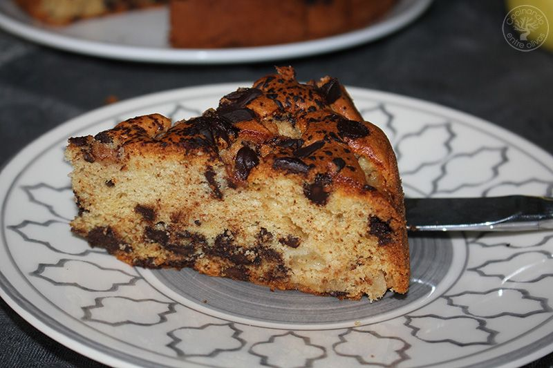 Bizcocho de peras y chocolate receta (17)