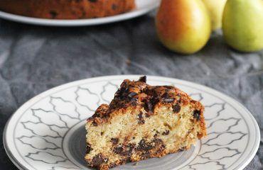 Bizcocho de peras y chocolate receta (19)