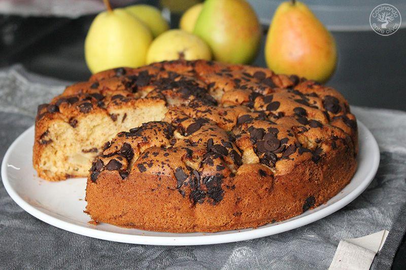 Bizcocho de peras y chocolate receta (20)