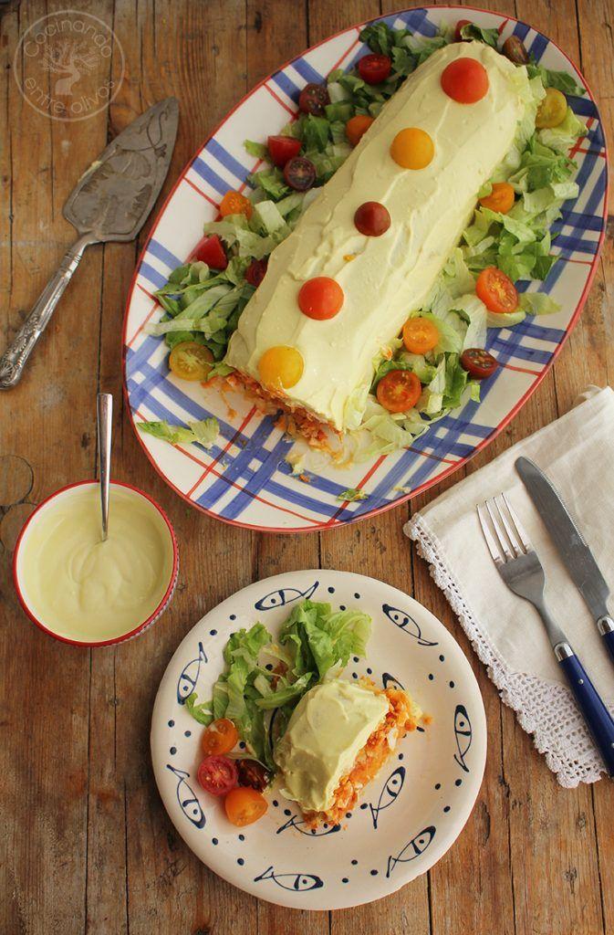Rollo o Brazo de gitano de patatas relleno de atun y tomate (45)