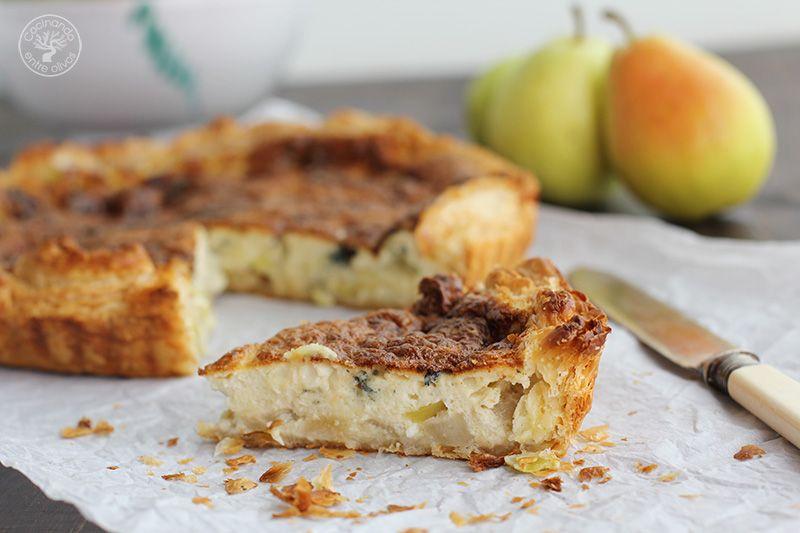 Tarta salada de peras, queso azul y puerros (4)