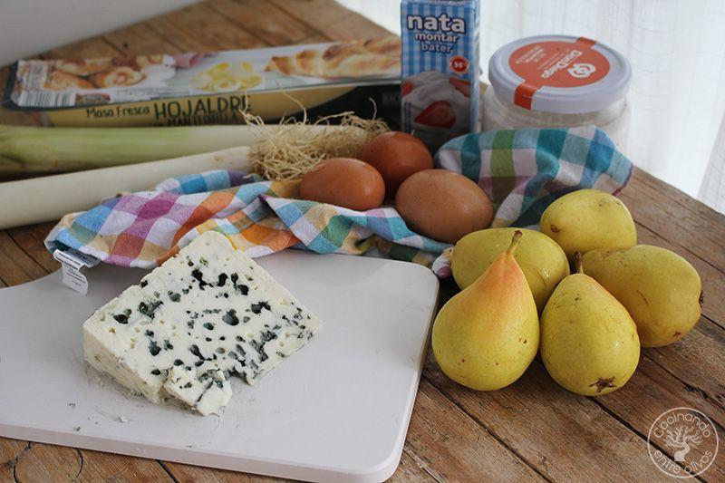 Tarta salada de peras, queso azul y puerros (8)