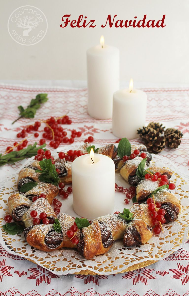 Postres Para Una Feliz Navidad.Como Hacer Una Corona De Adviento De Hojaldre Y Chocolate