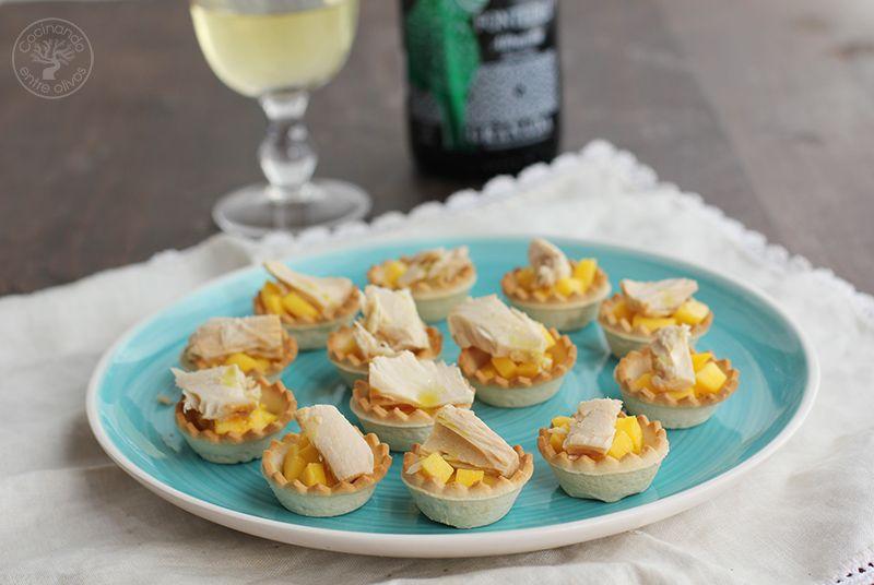 Tartaletas de mango y bonito en escabeche (1)