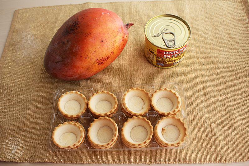 Tartaletas de mango y bonito en escabeche (2)