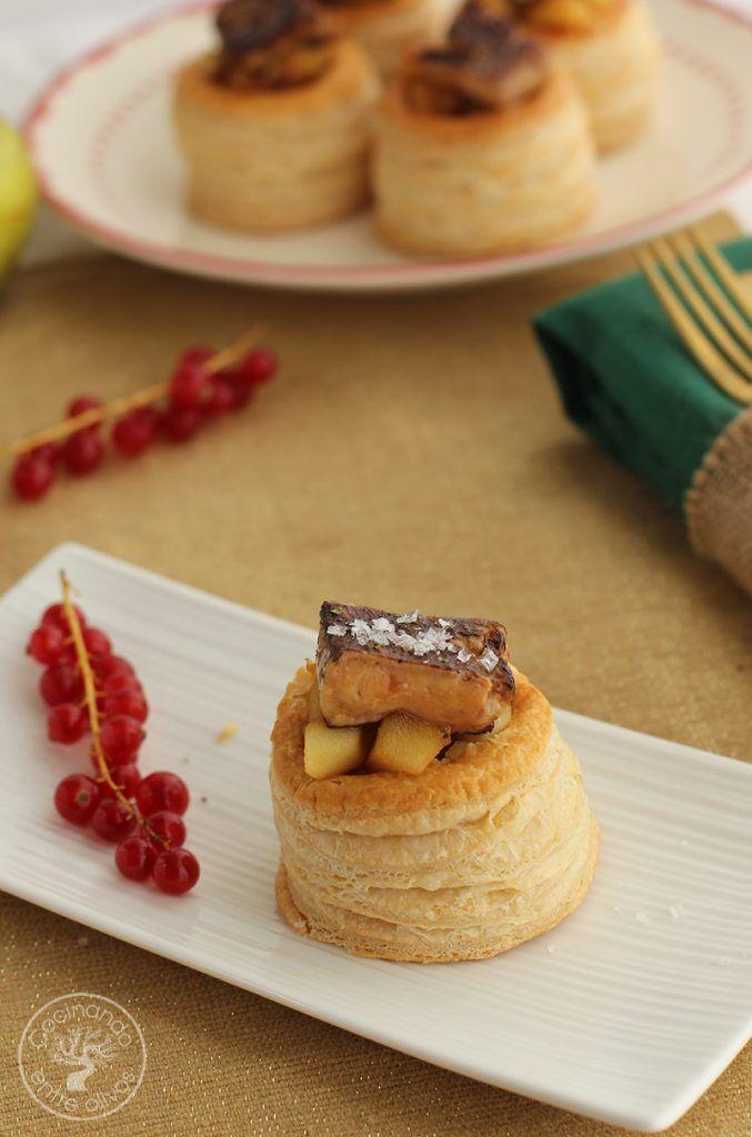 Volovanes rellenos de manzana caranelizada y foie gras (4)