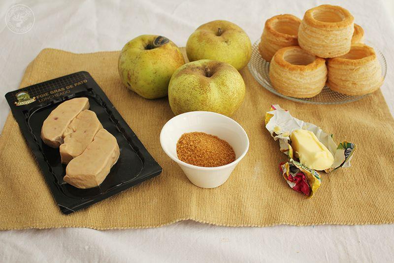 Volovanes rellenos de manzana caranelizada y foie gras (5)