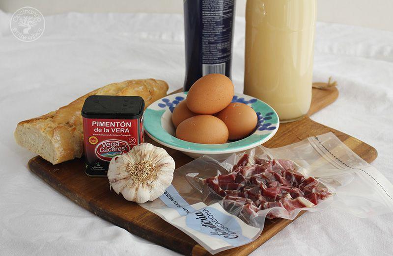 Como hacer sopa de ajo con jamon (1)