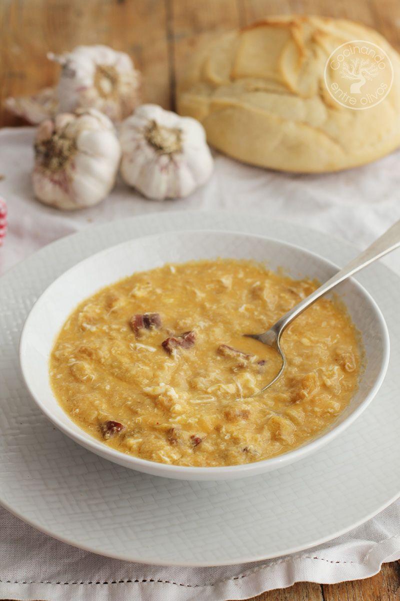 Como hacer sopa de ajo con jamo (14)