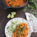 Curry vegetal con batatas y espinacas (5)