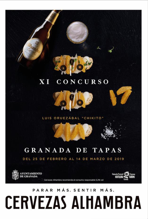 Cartel Granada De Tapas 2019