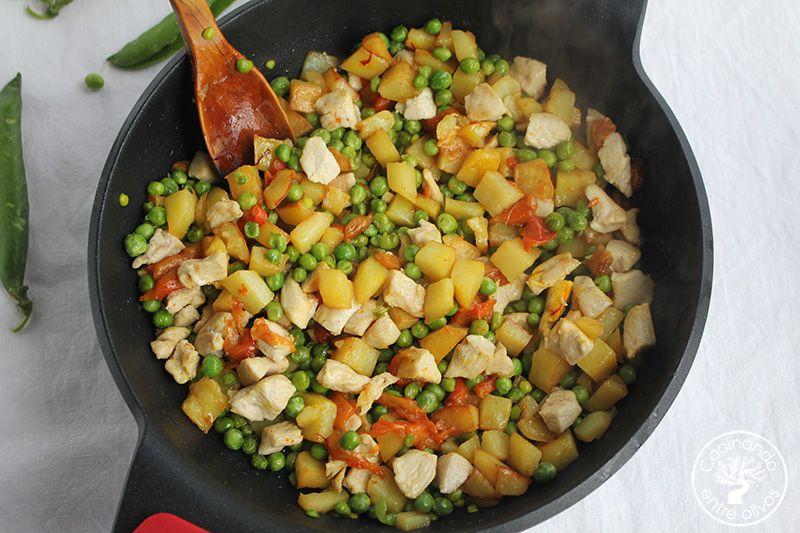 Guisantes con pollo y patatas (15)