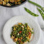 Guisantes con pollo y patatas (2)