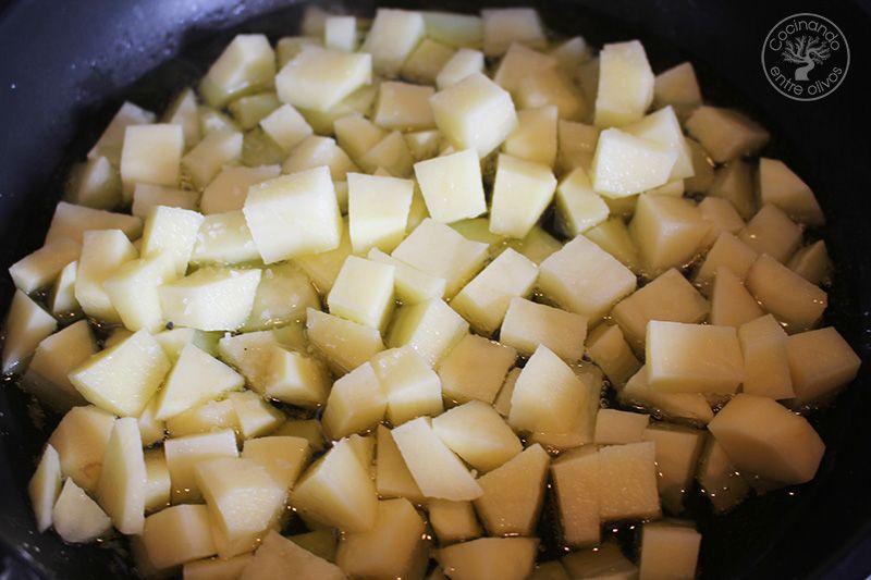 Guisantes con pollo y patatas (7)