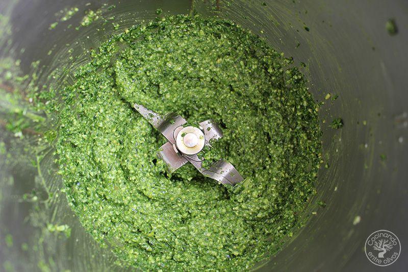 Pesto de espinacas receta (11)