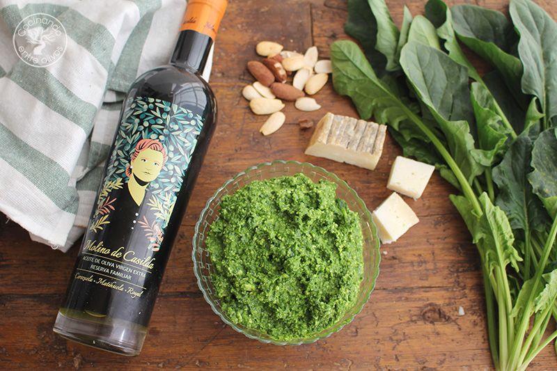 Pesto de espinacas receta (12)