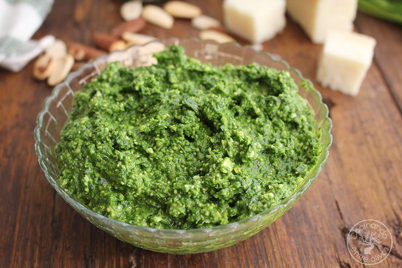 Pesto de espinacas receta (2)
