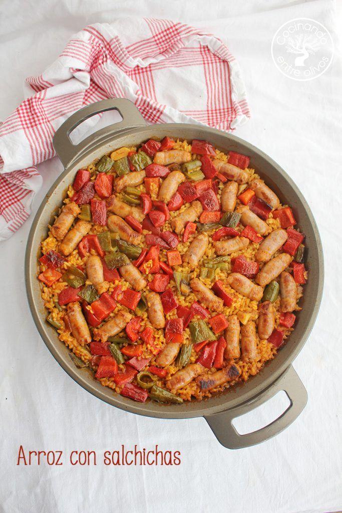 Arroz con salchichas receta (t)