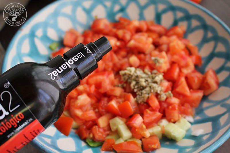 Gazpacho a la antigua o Gazpacho picao