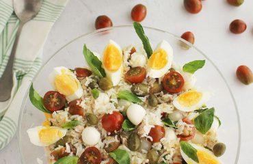 Ensalada de arroz italiana
