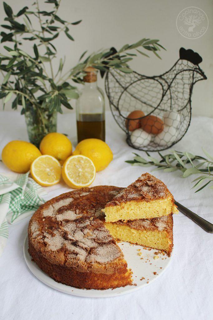 Bizcocho de limón y aceite de oliva virgen extra