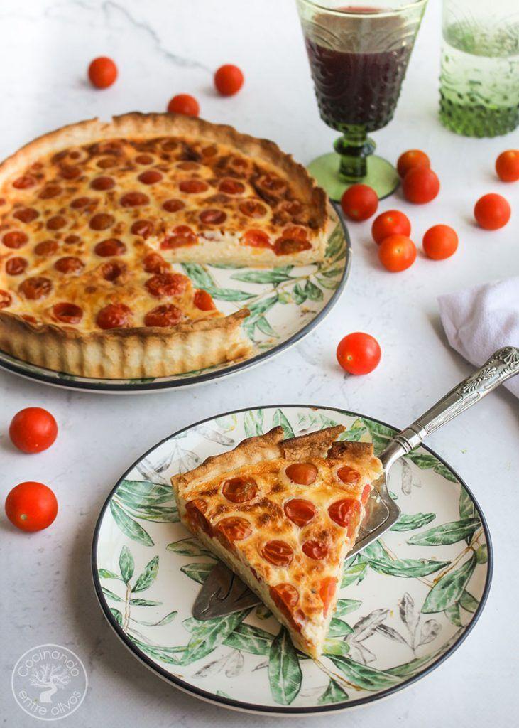 Tarta de tomatitos y queso