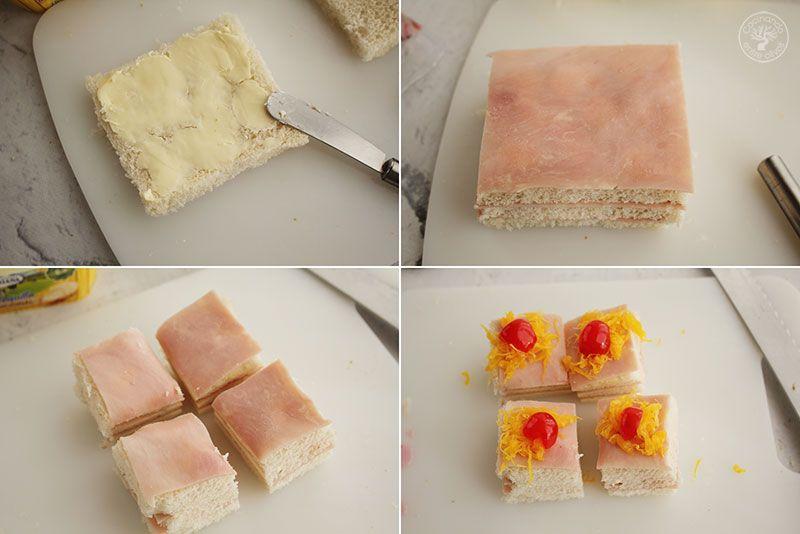 5 canapés de pan de molde fáciles