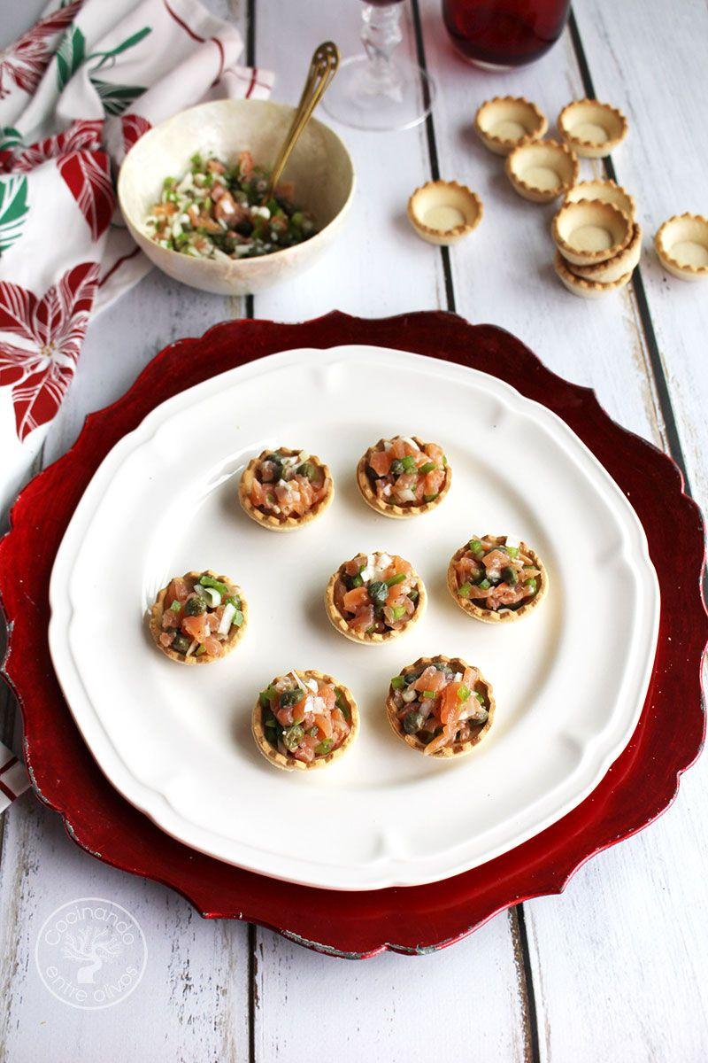 Tartaletas de salmón ahumado