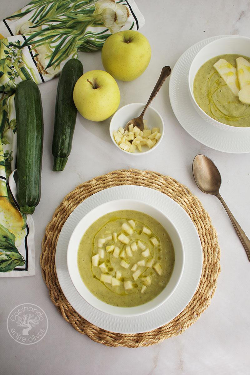 Receta de Crema de calabacin y manzana
