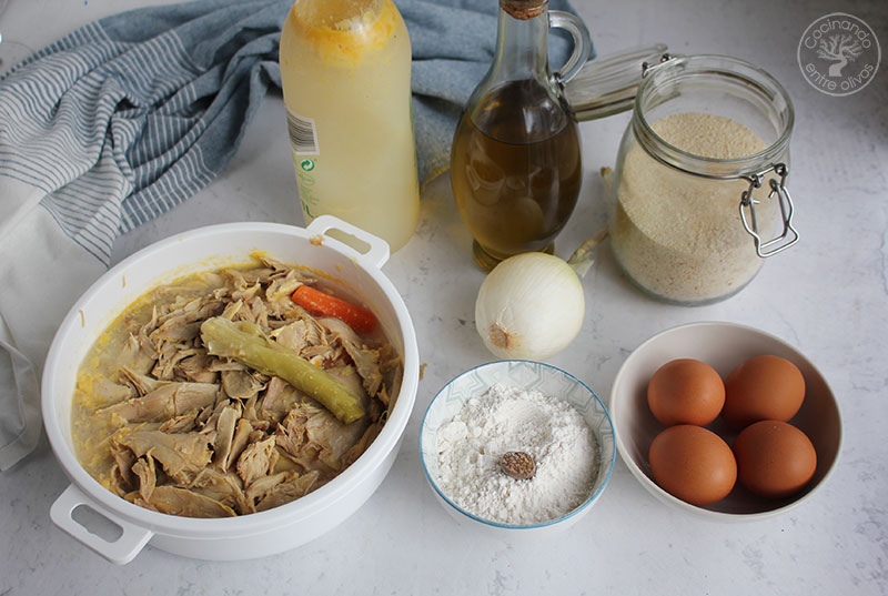 Receta de Croquetas de pollo y caldo